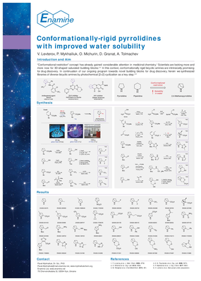 Conformationally-rigid pyrrolidines with improved water solubility
