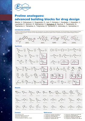 Proline analogues: advanced building blocks for drug design