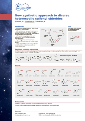 New synthetic approach to diverse heterocyclic sulfonyl chlorides