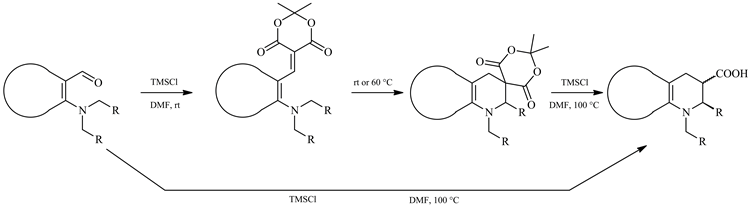 Facile One-Pot Synthesis of 1,2,3,4-Tetrahydroquinoline-3-carboxylic Acids and Their Heterocyclic Analogs