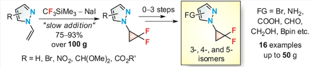 N-Difluorocyclopropyl-Substituted Pyrazoles: Synthesis and Reactivity
