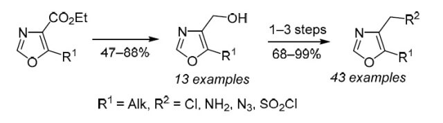 Expanding the chemical space of sp3-enriched 4,5-disubstituted oxazoles via synthesis of novel building blocks