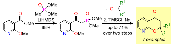 Strategy for the synthesis of 2,2-disubstituted 8-azachromanones via Horner–Wadsworth–Emmons olefination
