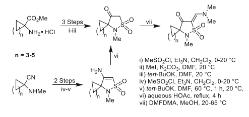 Synthesis of a series of tetraminic acid sulfone analogs