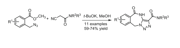 Synthesis of new triazolo[1,5-b][2,4]benzodiazepines via tandem cyclization of o-(azidomethyl)benzoates with cyanoacetamides