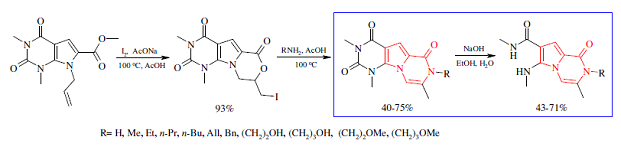 Synthesis of novel 1,2-dihydropyrrolo[1,2-a]pyrazin-1(2H)-one derivatives