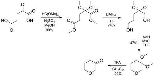 Synthesis of dihydro-2H-pyran-3(4H)-one