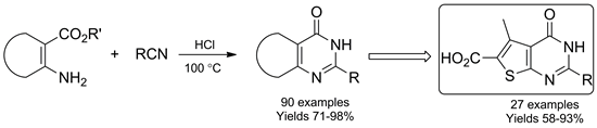 Dry HCl in Parallel Synthesis of Fused Pyrimidin-4-ones