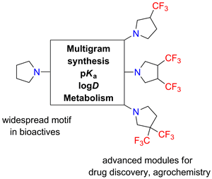 Synthesis and Characterization of β-Trifluoromethyl-Substituted Pyrrolidines