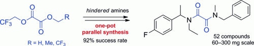 2,2,2-Trifluoroethyl Oxalates in the One-Pot Parallel Synthesis of Hindered Aliphatic Oxamides