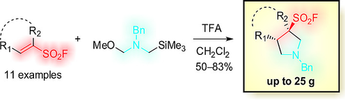 [3+2] Cycloaddition of an Azomethyne Ylide and Vinyl Sulfonyl Fluorides ― an Approach to Pyrrolidine-3-sulfonyl Fluorides