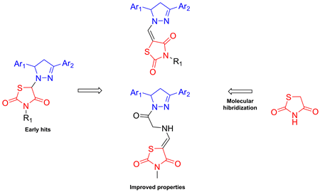 Synthesis of pyrazoline–thiazolidinone hybrids with trypanocidal activity