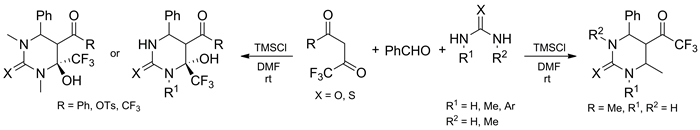 CF3-substituted 1,3-dicarbonyl compounds in the Biginelli reaction promoted by chlorotrimethylsilane