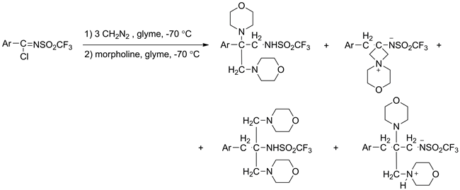 The aza Arndt–Eistert reaction based on N-trifluoromethylsulfonylarenecarboximidoyl chlorides