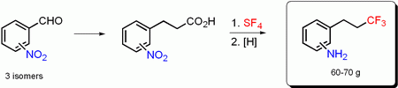 Synthesis of isomeric (3,3,3-trifluoropropyl)anilines