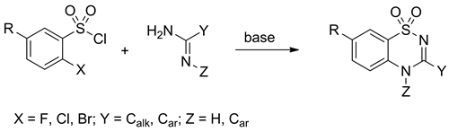 A one-pot, non-catalytic approach to 1,2,4-benzothiadiazine-1,1-dioxides