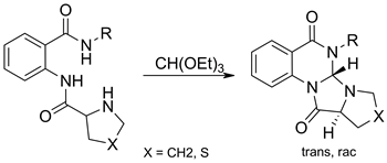 Synthesis of condensed tetrahydroimidazo[1,2-a]quinazoline-1,5-dione derivatives
