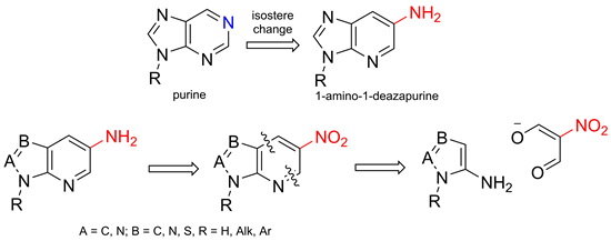 Design, synthesis and transformation of some heteroannulated 3-aminopyridines—purine isosteres with exocyclic nitrogen atom