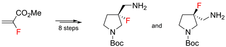 Convenient synthesis of enantiopure (R-) and (S-)-3-fluoro-3-aminomethylpyrrolidines