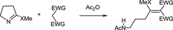 Ring opening of cyclic thioimidates in reaction with active methylene compounds