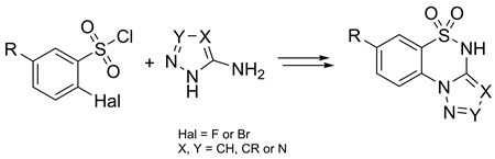 A facile synthesis of annulated azolo[c][1,2,4]thiadiazine S,S-dioxides