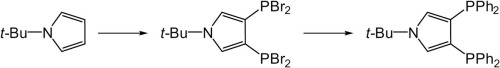 3,4-Bis-phosphanyl-1H-pyrrole derivatives via direct electrophilic phosphanylation of 1-tert-butyl-1H-pyrrole