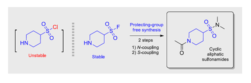 Saturated Heterocyclic Aminosulfonyl Fluorides: New Scaffolds for Protecting‐Group‐Free Synthesis of Sulfonamides