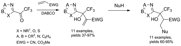 Baylis-Hillman Reactions of 2-(Trifluoroacetyl)-1,3-azoles