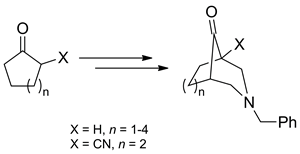 An Approach to Azabicyclo[n.3.1]alkanes by Double Mannich Reaction