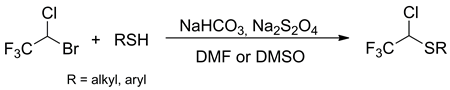 A Facile Synthesis of 1-Chloro-2,2,2-trifluoroethyl Sulfides