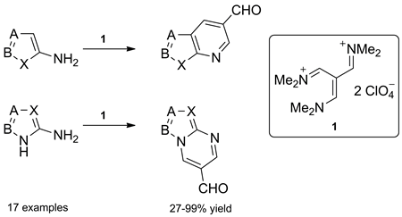 An Efficient Synthesis of Fused 3-Formylpyridines and 5-Formylpyrimidines