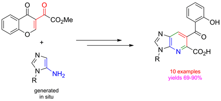 3-Methoxalylchromone - A Versatile Reagent for the Regioselective Synthesis of 1-Desazapurine