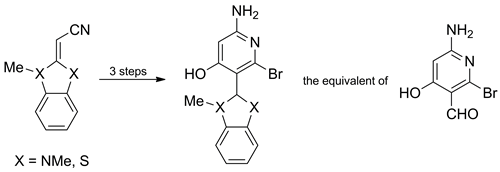 Synthesis of 6-Amino-2-bromo-4-hydroxynicotinaldehyde Derivatives