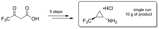 An Efficient and Safe Method for the Multigram Synthesis of trans-2-(Trifluoromethyl)cyclopropylamine