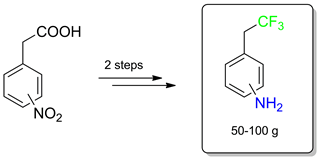 A Facile Synthesis of Isomeric C-(2,2,2-Trifluoroethyl)anilines