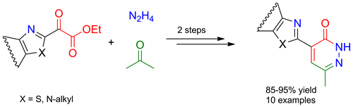 Easy Synthesis of Novel 4-Azolylpyridazin-3-ones