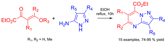 Synthesis of New Pyrazolo[1,5-a]pyrimidines by Reaction of β,γ-Unsaturated γ-Alkoxy-α-keto Esters with N-Unsubstituted 5-Aminopyrazoles