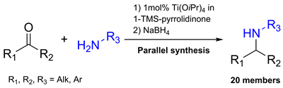One-Pot Parallel Synthesis Approach to Secondary Amines Based on the Reductive Amination of Ketones