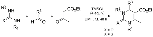 N-Substituted Ureas and Thioureas in Biginelli Reaction Promoted by Chlorotrimethylsilane: Convenient Synthesis of N1-Alkyl-, N1-Aryl-, and N1,N3-Dialkyl-3,4-Dihydropyrimidin-2(1H)-(thi)ones
