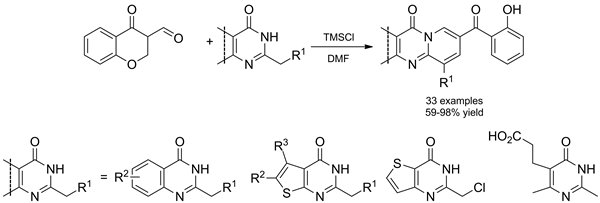 A New One-Step Route for the Synthesis of Fused Pyrido[1,2-a]pyrimidin-4-ones