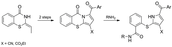 A Novel Approach to Pyrrolo[2,1-b][1,3]benzothiazines