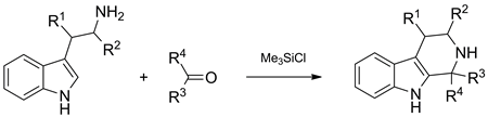 Application of chlorotrimethylsilane in Pictet–Spengler reaction