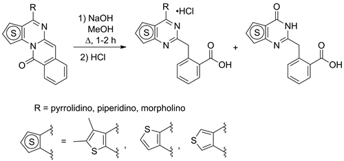 Synthesis of substituted 4-aminothieno[2,3-d]-, 4-aminothieno[3,2-d]- and 4-aminothieno[3,4-d]pyrimidines