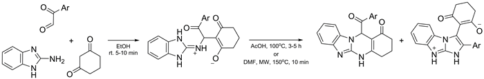 Multicomponent Reaction of 2-aminobenzimidazole, Arylglyoxals, and 1,3-cyclohexanedione