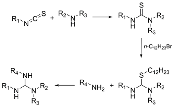 A solution-phase parallel synthesis of alkylated guanidines from thioisocyanates and amines
