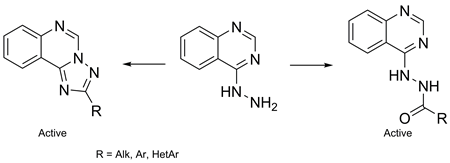 Synthesis and Anticancer Activity of 2-(Alkyl-, Alkaryl-, Aryl-, Hetaryl-)-[1,2,4]triazolo[1,5-c]quinazolines.